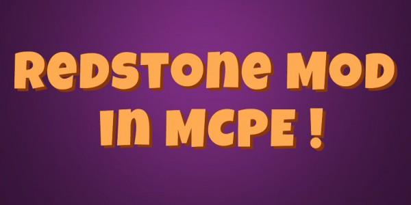 Mod redstone sur MCPE? Oui sa existe !