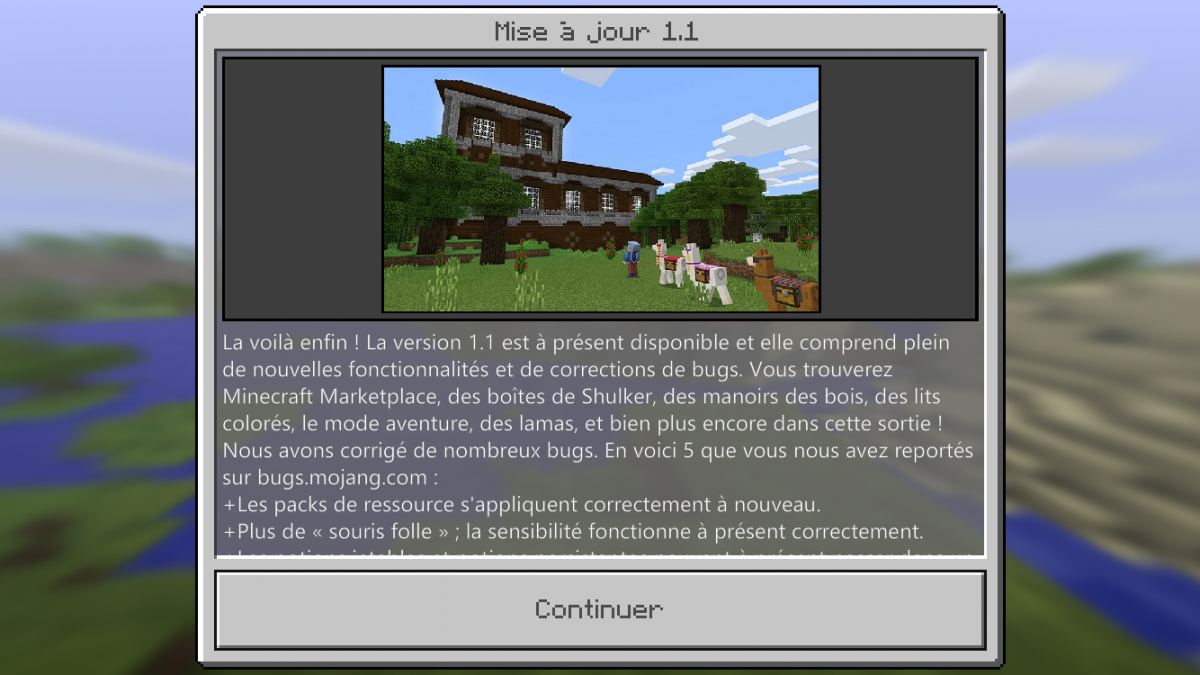 MISE À JOUR MCPE 1.1 DISPONIBLE ! [Discovery Update]