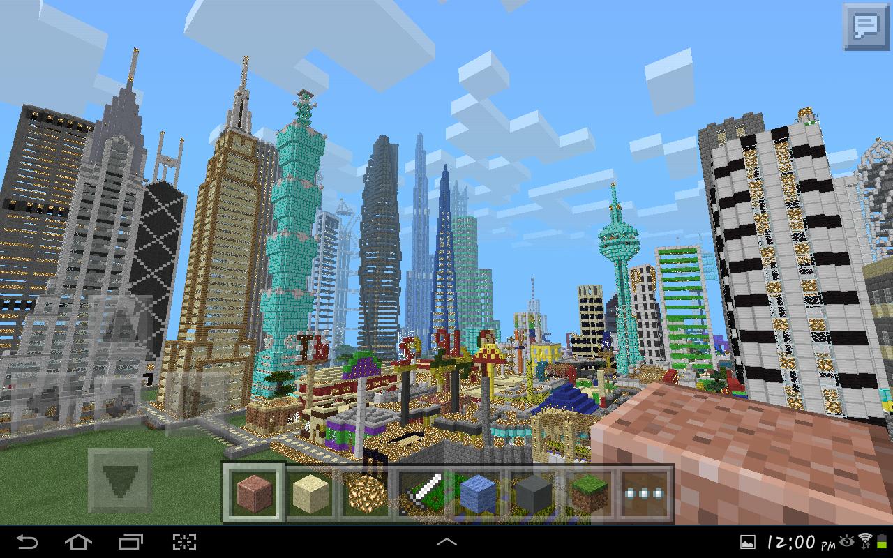 карта город для майнкрафт пе 0.13.0